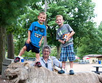Wyatt, Nate, Sue and I at the zoo